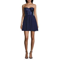 Love Reigns Sleeveless Party Dress-Juniors