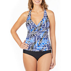 St. John's Bay ® Tribal Patch Halter Tankini or Brief Swimsuit Bottom