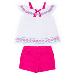 Little Lass 2-pc. Short Set Toddler Girls