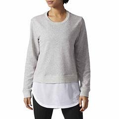 adidas® Dual Long Sleeve Sweatshirt