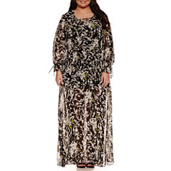 Belle + Sky Long Sleeve Maxi Dress-Plus