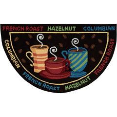 Nourison® Black Coffee Bean Utility Wedge Rug