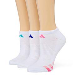adidas® 3-pk. Cushion No-Show Socks