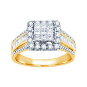 1 CT. T.W. Diamond 10K Yellow Gold Engagement Ring