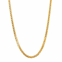 14K Yellow Gold Diamond-Cut Wheat Chain 16
