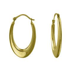 Girls 14K Yellow Gold Oval Hoop Earrings