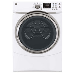 GE® 7.5 Cu. Ft. Capacity Front-Load Dryer with Steam