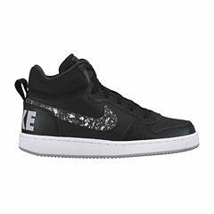 Nike Court Borough Mid Print Boys Running Shoes - Big Kids