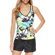 ZeroXposur® Floral Tankini Swimsuit Top or Woven Boardshort
