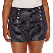 Almost Famous Cotton Chino Shorts-Juniors Plus