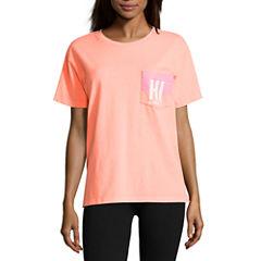 Flirtitude Hawaii Graphic T-Shirt- Juniors