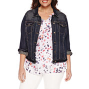 Claiborne Denim Jacket-Plus