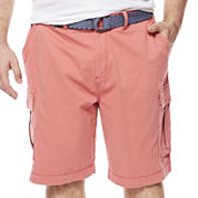 The Foundry Big & Tall Supply Co.™ Belted Cargo Shorts