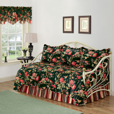 waverly charleston chirp noir reversible daybed quilt set u0026 accessories