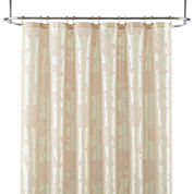 Liz Claiborne® Bijoux Flocked Floral Shower Curtain Display