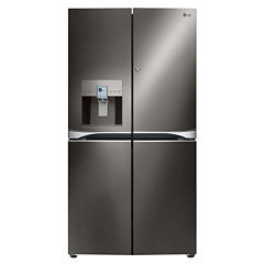 LG ENERGY STAR® Black Stainless Steel Series 29.8cu. ft. 4-Door French Door Refrigerator with Door-in-Door Design