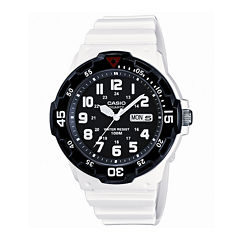 Casio® Mens White Resin Strap Diver Sport Watch MRW200HC7BOS