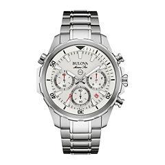 Bulova® Marine Star Mens Stainless Steel Chronograph Watch 96B255