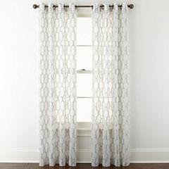 Studio™ Casey Sheer Grommet-Top Curtain Panel