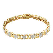 Diamond-Accent Flower Bracelet