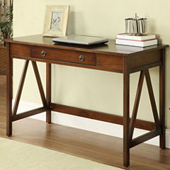Titian Desk in Antique Tobacco