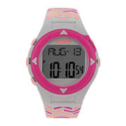 A Classic Time Womens Heart Rate Monitor Patterned Strap Digital Sport Watch
