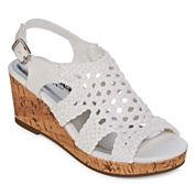 Arizona Peony Girls Wedge Sandals