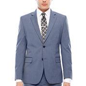 JF J. Ferrar Stretch Light Blue Slim Jacket