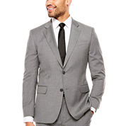 J.Ferrar Stretch Medium Gray Tic Jacket-Slim Fit