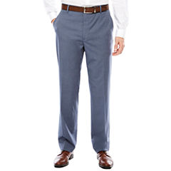 Men's JF J. Ferrar Texture Stretch Light Blue Flat-Front Straight-Leg Classic Fit Pant