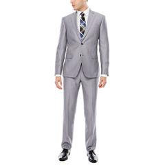 JF J. Ferrar Gray Pindot Suit Separtes- Slim Fit