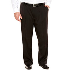 Men's Van Heusen Traveler Stretch Pleated Straight-Leg Dress Pant- Big and Tall