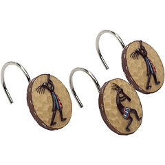 Avanti Kokopelli Shower Curtain Hooks