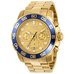 Invicta Pro Diver Mens Gold Tone Bracelet Watch-22227