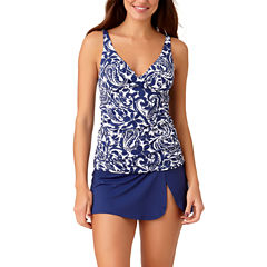 Liz Claiborne Mystique Cobalt Tankini Swimsuit Top or Swim Skirt