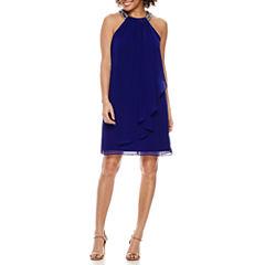 Scarlett Sleeveless Beaded A-Line Dress-Petites