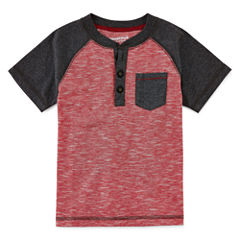 Arizona Boys Short-Sleeve Henley - Toddler 2T-5T