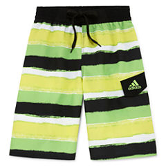 Adidas Boys Pattern Swim Trunks-Big Kid