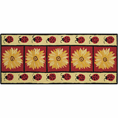 Nourison® Ladybug Utility Rectangular Rug