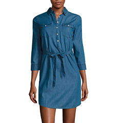 St. John's Bay Long Sleeve Shirt Dress