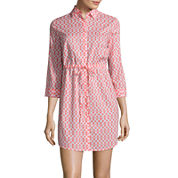 St. John`s Bay 3/4 Sleeve Shirt Dress