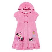 Disney Girls Minnie Mouse Solid Dress-Big Kid