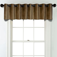 JCPenney Home Velvet Grommet Unlined Tailored Valance