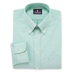 Stafford® Travel Wrinkle-Free Oxford Linen Look Dress Shirt  - Big & Tall