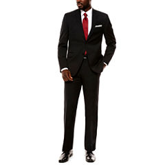 Collection by Michael Strahan Black Herringbone Suit Separates- Slim Fit