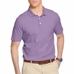 IZOD Short Sleeve Solid Interlock Polo Shirt