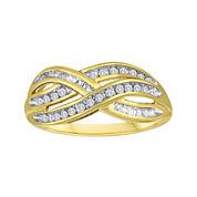 1/3 CT. T.W. Diamond 10K Yellow Gold Swirl Ring