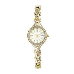 Armitron® Womens Gold-Tone Round Bangle Watch