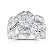 Harmony Eternally in Love 3 CT. T.W. Diamond 10K White Gold Engagement Ring