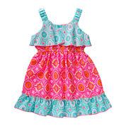 Youngland® Sleeveless Popover Sundress - Toddler Girls 2t-4t